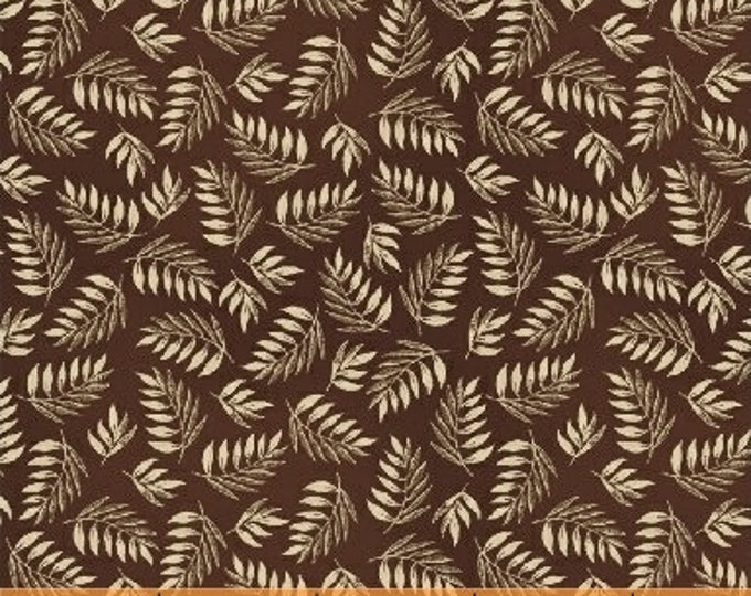 Windham Simply Red Cream Mary Koval Brown Cream Leafy Civil War Fabric 42894-4 BTY
