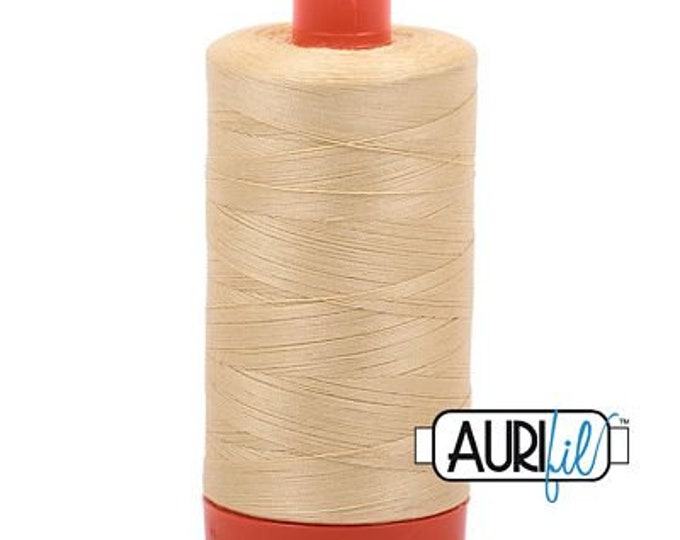 AURIFIL MAKO 50 Wt 1300m 1422y Color 2125 Wheat Quilt Cotton Quilting Thread