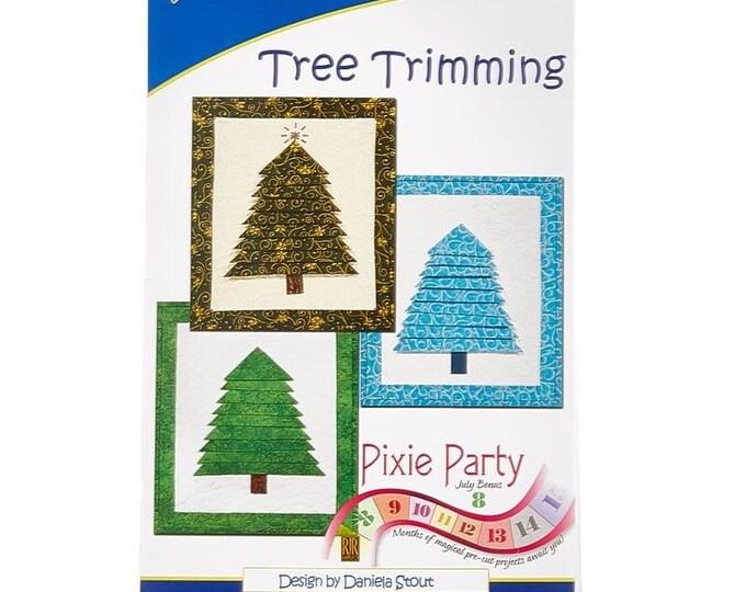 Cozy Quilt Designs Pixie Party PRECUT Tree Trimming Bright Green Jinny Beyer Batik Fabric Easy Kit 12 x 14