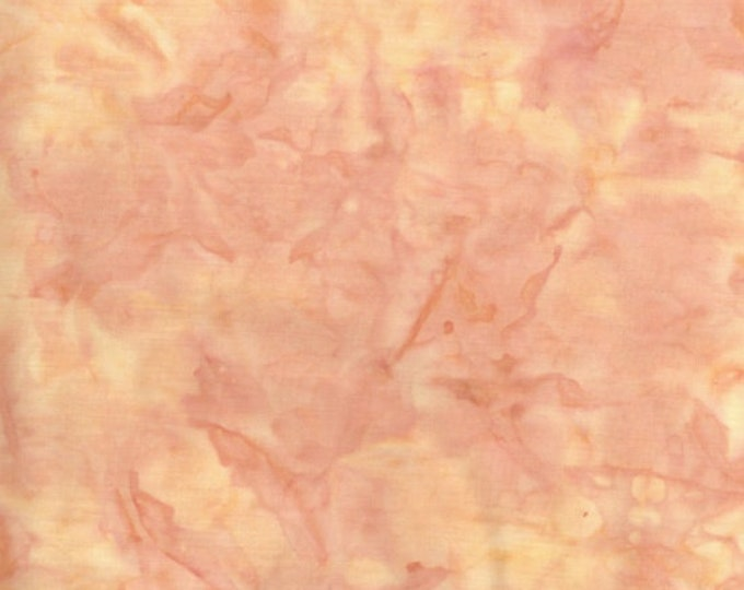 Hoffman 1895 Watercolors Solid Batik Fabric Sunny Orange Peach 1895-351 BTY