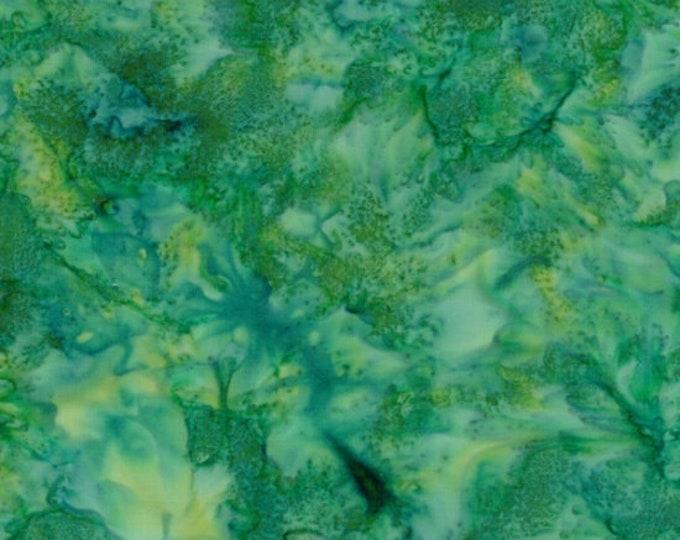 Hoffman 1895 Watercolors Solid Batik Fabric 1895-303 Frog Green Yellow BTY