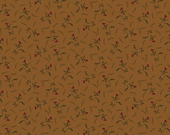 Marcus Conestoga Crossings Pam Buda Gold Brown Floral Civil War Reproduction  5548-0113 Fabric BTY