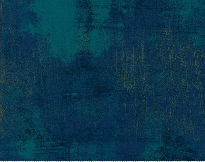 Moda Grunge Basics Nova New CASCADE Dark Blue Teal Mottled Background Fabric 30150-504 BTY