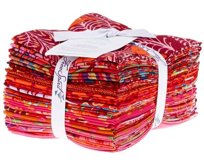 Free Spirit Rowan Kaffe Fassett Red Pink Orange Lipstick Classics Fabric 20 Fat Quarters Bundle