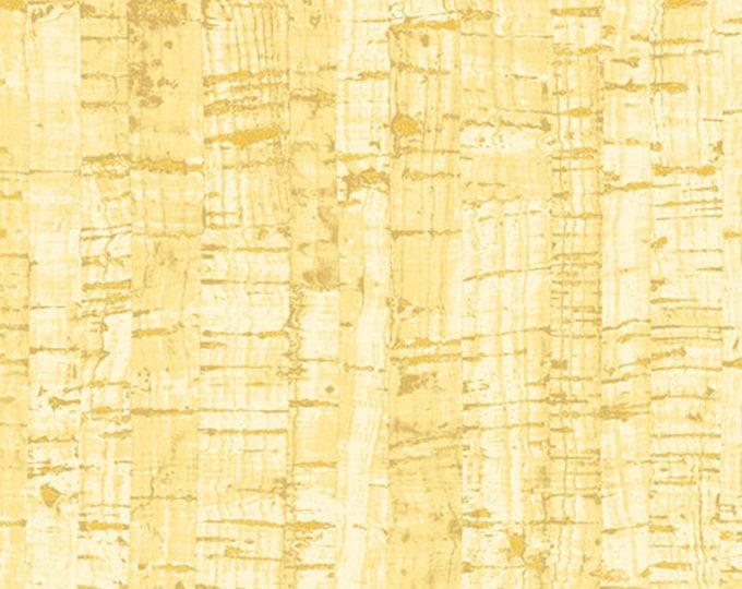 Windham Cotton Uncorked Cork Gold Metallic Brown Tan Natural Cork Fabric 50107M-24 BTY