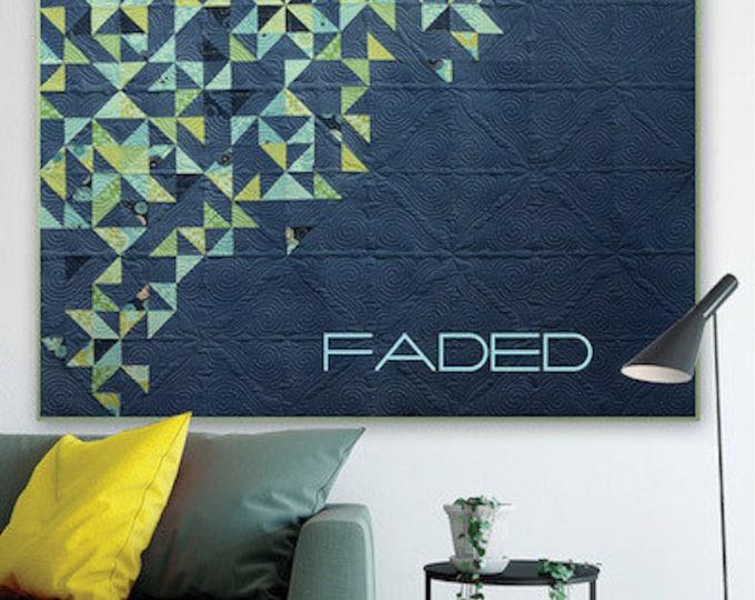 ZEN CHIC Faded Fat Eighth Friendly Modern Quilt Pattern 73 x 73