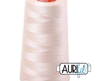 AURIFIL Cone MAKO 50 Wt 5900 Meters 6452 Yds Color 2000 Light Sand Quilt Cotton Quilting Thread