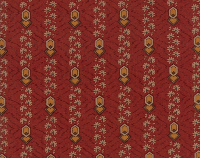 Moda Timeless by Jo Morton Rust Red Gold Circle Stripe Civil War Reproduction Fabric 38027-16 BTY
