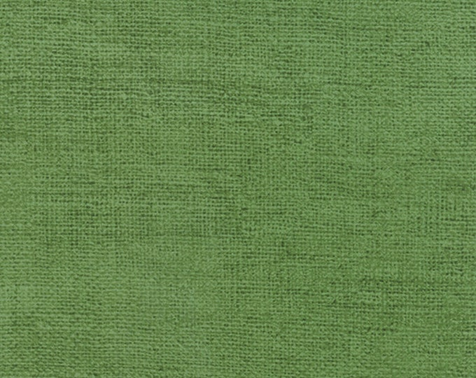 Moda DIll Olive Green Rustic Weave Burlap Look Cotton Fabric 32955-48 BTY