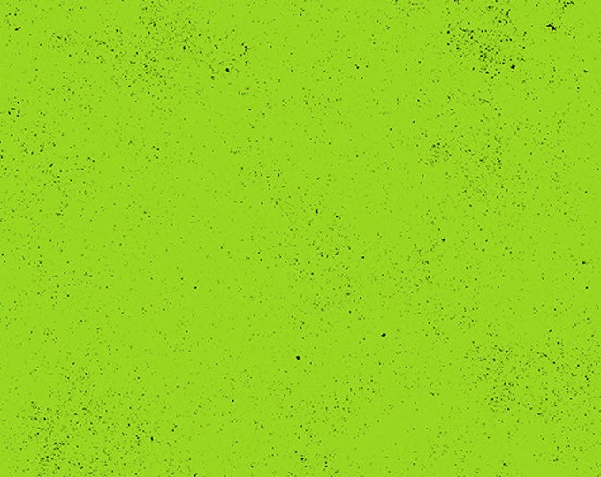 Andover Spectrastatic Giucy Giuce NEON Green Lime Black Speckle Static Dot Fabric BTY 9248-G1
