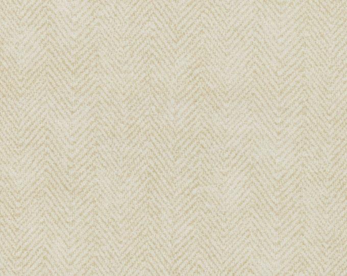 Maywood Woolies Cream Ecru Herringbone FLANNEL Fabric 1841-E2 BTHY
