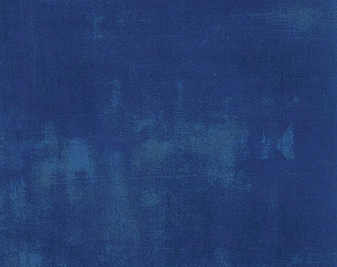 Moda Grunge Basics COBALT Blue Deep Navy Mottled Background Fabric 30150-223 BTY