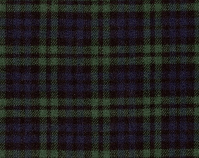 Marcus Primo Plaids Flannel Classic Tartans Green Blue Plaid Fabric J375-0116 BTY