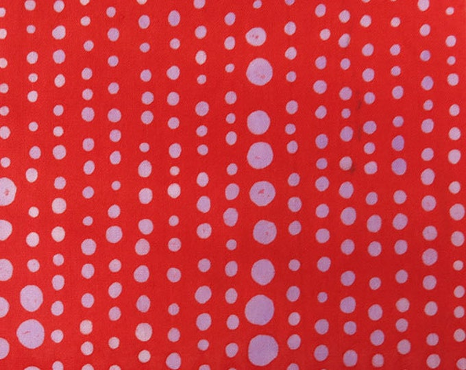NEW Andover by Alison Glass Chroma Sun Prints 8131-R5 Pumpkin Red Pinpoint Batik Fabric BTY