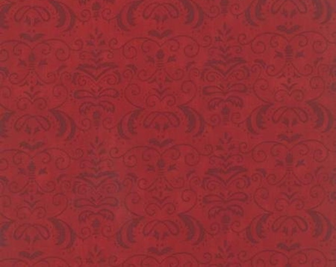 Moda Forest Fancy by Deb Strain  Red Damask yardage  Cotton Fall  19714-13 BTY