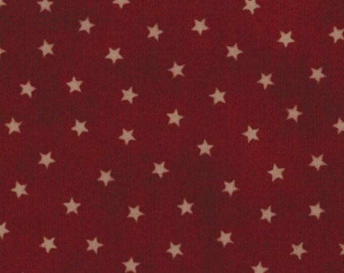 Moda OLD GLORY Gatherings Dark Red Star Patriotic Primitive Gatherings Fabric 1074-21 BTY