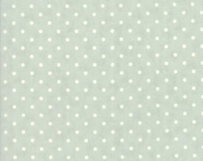 Moda POETRY Aqua Teal Blue Cream Polka Dot 3 Sister's Shabby Fabric 44137-14 BTY