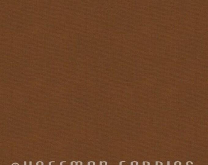 Hoffman Indah Me+You Batik Cinnamon Solid Brown Fabric 100 Color 52 BTY