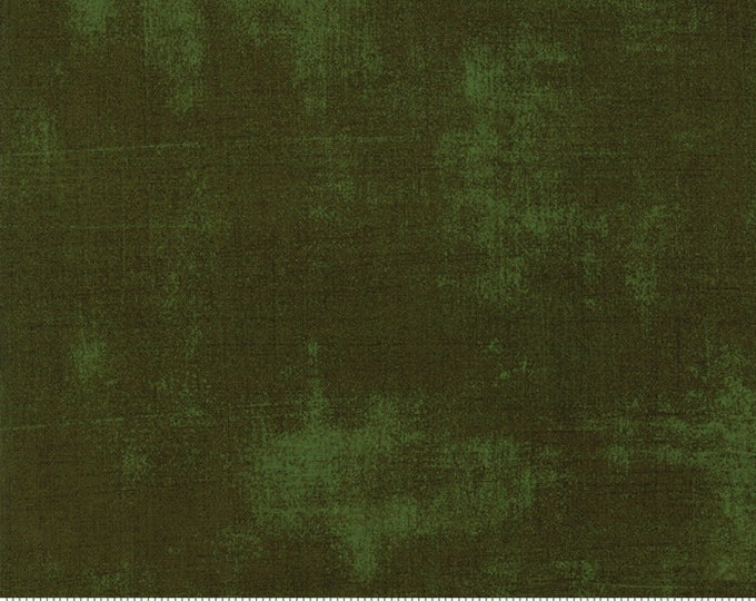 Moda Grunge Basics RIFLE GREEN Deep Forest Hunter Emerald Background Fabric 30150-394 BTY