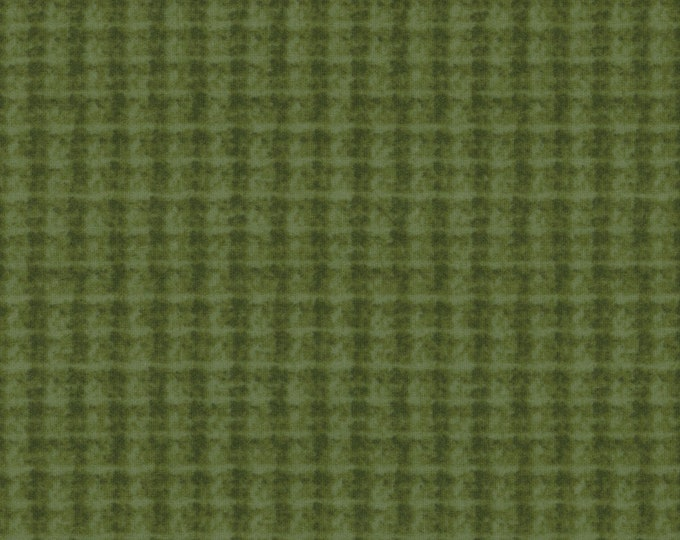 Maywood WOOLIES Green Olive Double Weave Plaid 18504-G Flannel Fabric BTY