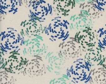 Cotton and Steel Raindrop Puddle Jump Sea Blue Green Fabric 1941-001 BTY