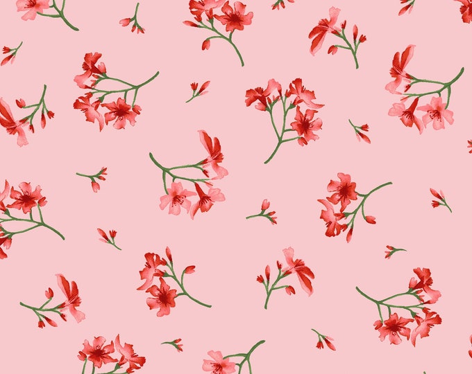Maywood MAS9655-P Prose  Little Flowers Pink and red flowers 100% COTTON BTY
