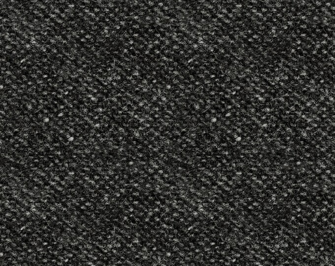 Maywood Woolies Charcoal Gray Grey Black Nubby Tweed FLANNEL Fabric 18507-JK BTY