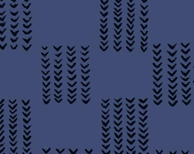 Windham Twilight Navy Blue Black Arrow 100% Cotton Mud Mudd Cloth 41097-2 BTY