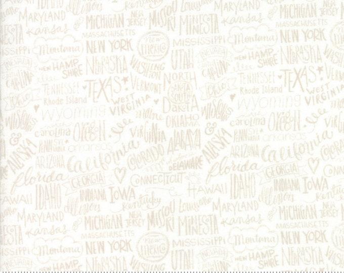 Moda Basic Grey METROPOLIS Tonal Fog Stately White Cream Beige 30561-13 Fabric BTY
