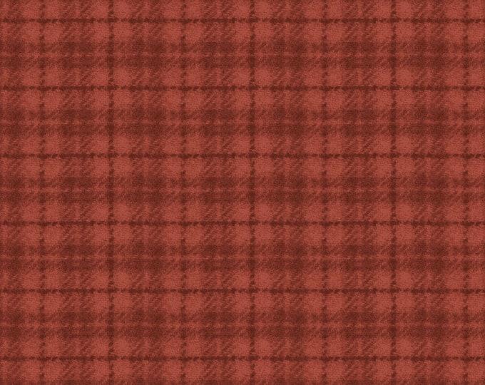 Maywood Woolies Red Orange Rust Plaid FLANNEL Fabric 18502-RO BTY