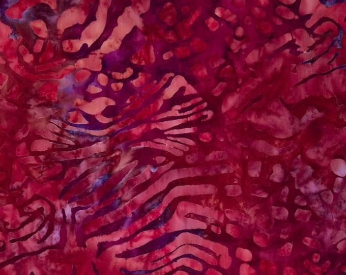 Kaufman Mckenna Ryan Tiger Fish Fuchsia Pink Purple Batik Fabric 15740-108 BTY