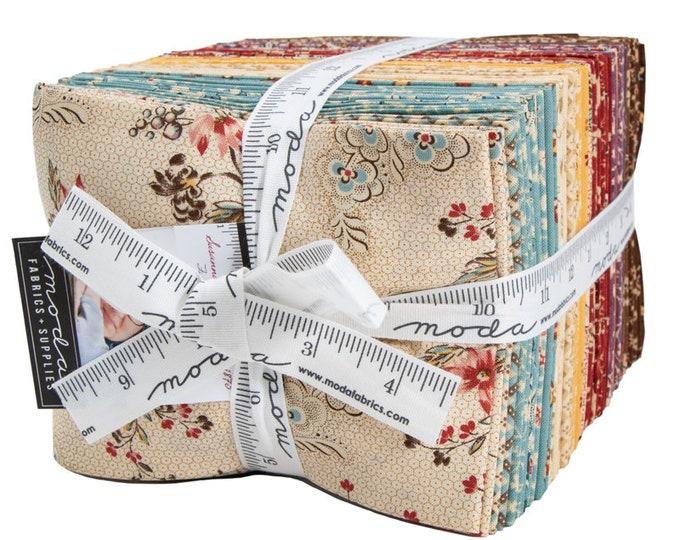 Moda Susannas Scraps Civil War Reproduction Cream Blue Red Fabric 38 Fat Quarter Bundle