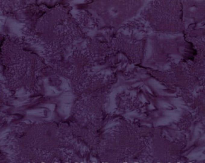 Hoffman 1895 Watercolors Solid Batik Fabric 1895-34 Eggplant Deep Purple BTY