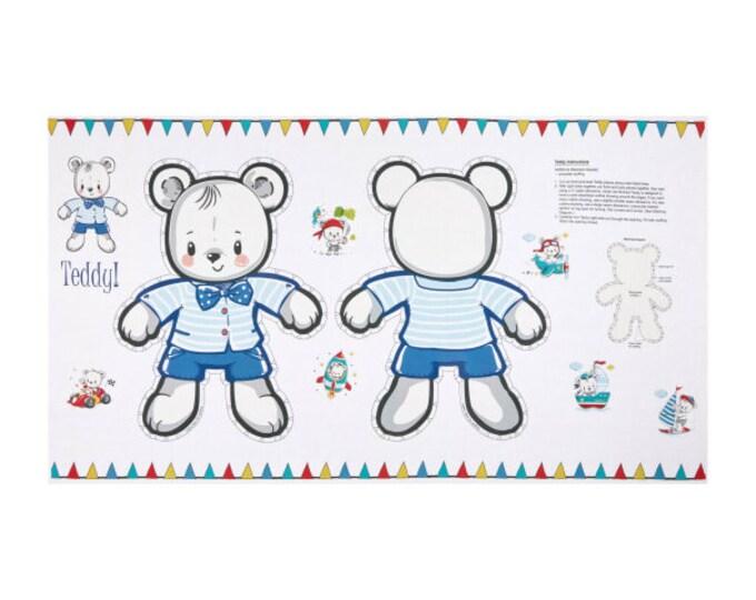 "Teddy's Pillow panel 100% cotton 24"" x 44"""