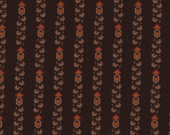 Moda Timeless by Jo Morton Brown Red Gold Circle Stripe Civil War Reproduction Fabric 38027-14 BTHY