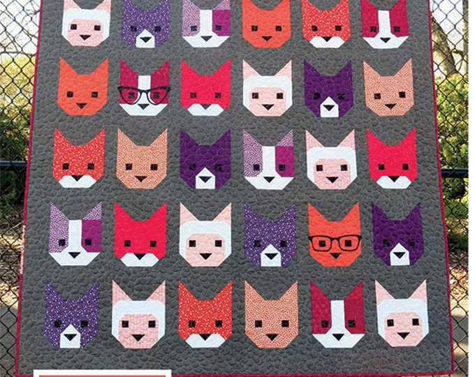 The Kittens Elizabeth Hartman Quilt Modern Pattern 3 Sizes