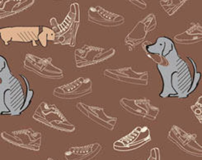 Ink and Arrow DAWG dog Hispta puppy Shoes on Brown Fabric BTHY