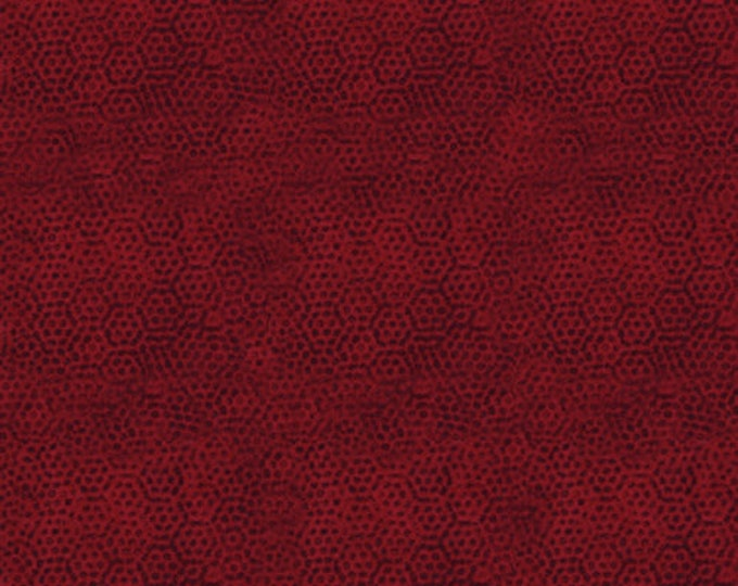 Andover Dimples Gail Kessler Basic Textured Blender Carmine Crimson Red Brick 1867-R2 BTY