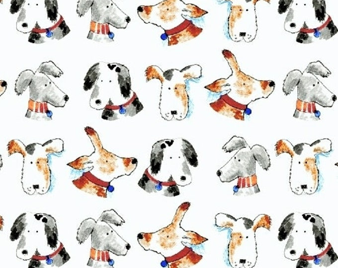 Windham Take Me Home White Dog Puppy Face Fabric 42988-3 BTHY