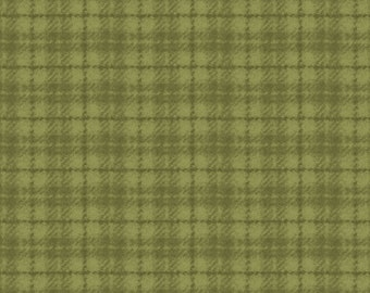 Maywood Woolies Green on Green 1 Inch Open Plaid FLANNEL Fabric MASF-18502-G BTY