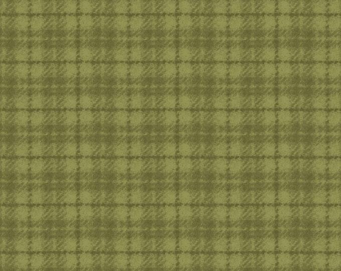 Maywood Woolies Green on Green 1 Inch Open Plaid FLANNEL Fabric MASF-18502-G BTHY