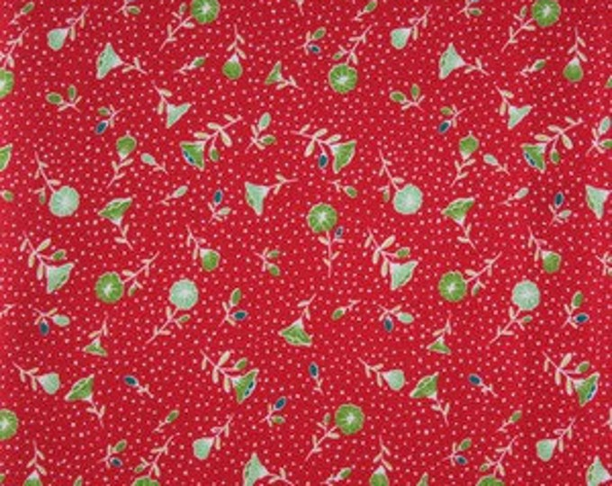 Moda Fabric Pedal Pushers, Floral Red  by Lauren and Jessi Jung Cotton 25081-11  BTY