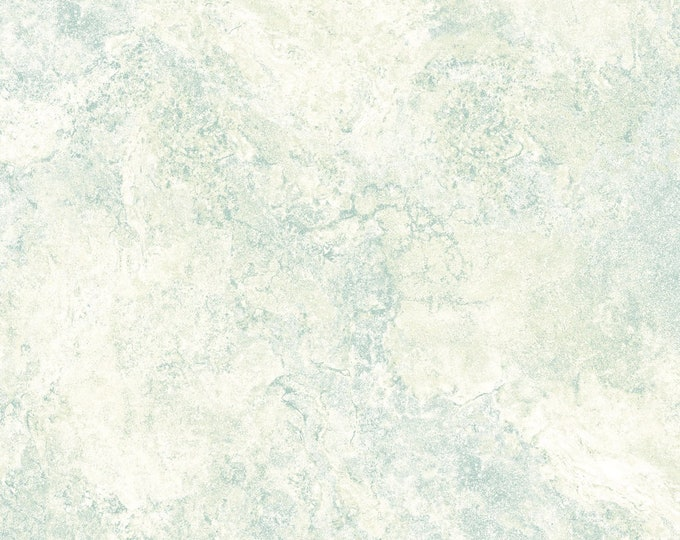 Northcott Stonehenge Gradations Blue Planet Cream Teal Blue Green Mottled Granite Marble Fabric 39306-48 BTY