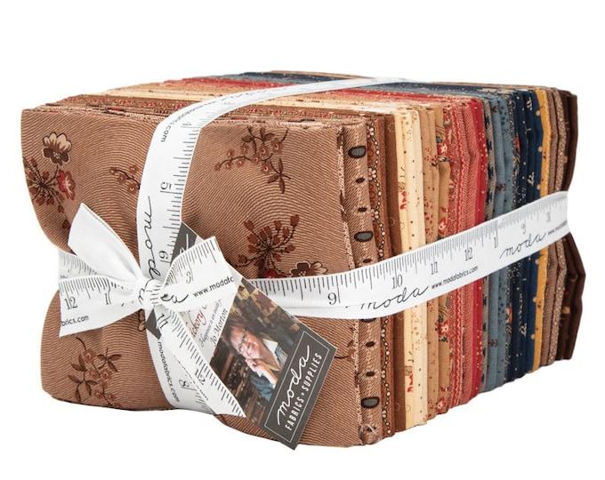 Moda 40 Fat Quarter Hickory Road Jo Morton Civil War Reproduction Brown Blue Tan Red Fabric Bundle