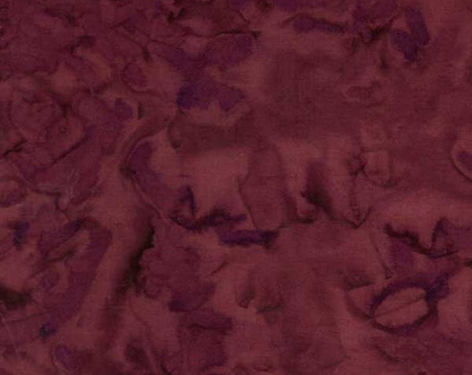 Batik Textiles Fabric Burgundy 7236 BTY