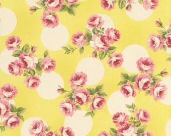 Robyn Pandolph Rose Yellow Polka Dot BonBon Bebe Shabby Fabric BTY