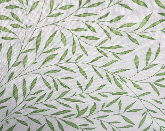 Free Spirit Kelmscott by Morris & Co.Flornets - Leaves Green  - Fabric