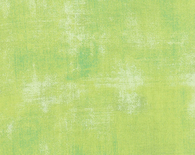 Moda Grunge Basics KEY LIME Green Mottled Background Fabric 30150-303 Fabric BTY