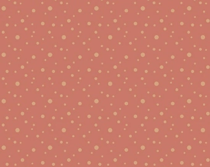 Marcus Nancy Rink On Plumberry Lane Coral Pink Dot Fabric 2279-0129 BTY