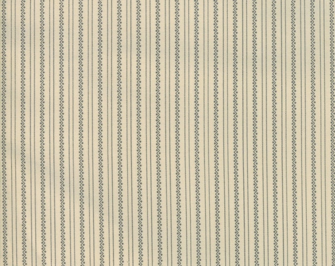 Moda Jos Shirtings by Jo Morton Cream Beige Grey Stripe Floral Civil War Fabric 38043-21 BTY